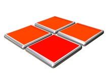 3D buttons for web site design Stock Photos