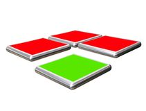 3D buttons for web site design Stock Photography