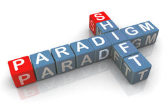 3d buzzword 'paradigm shift'. 3d render of buzzword 'paradigm shift Stock Photos
