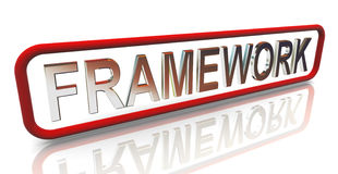 3d buzzword text 'framework' Royalty Free Stock Photography