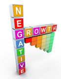 3d buzzword text 'negative growth' Stock Image