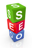 3d buzzword text 'seo' Stock Photography