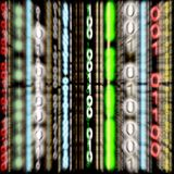 3D código binário colorido - efeito do zoom (fundo) Imagens de Stock Royalty Free