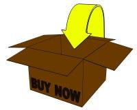 3d cadre, achat d'Internet maintenant Image stock