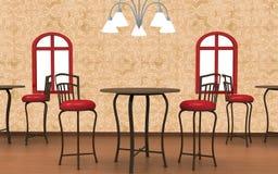3D Cafe Interior Stock Photos