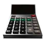3D Calculator. A 3D calculator placed on a white background Stock Images