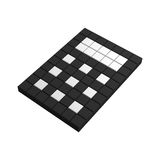 3d calculator pixel icon. Black and white illustration Royalty Free Stock Image