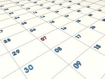 3D CALENDAR Royalty Free Stock Image