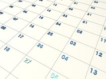 3D CALENDAR. Cool 3d calendar Royalty Free Stock Photo