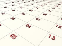 3D CALENDAR. Cool 3d calendar Royalty Free Stock Images