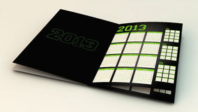 3d calendar 2013 Stock Images