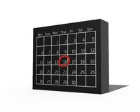 3D Calendar Royalty Free Stock Images
