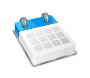3d calendar icon. Blue 3d calendar icon isolated on white vector illustration