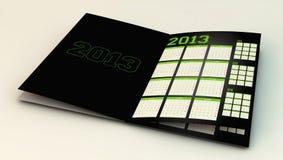 3d calendario 2013 Immagini Stock