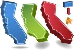3d California ilustracja wektor