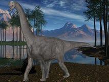 3d camarasaurus恐龙 库存图片