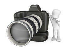 3D camera and photographer Royalty Free Stock Photo