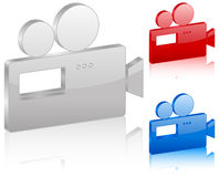 3D camera symbol. Set. Vector illustration Royalty Free Stock Photography