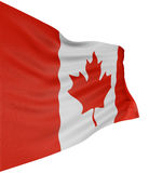 3D Canada Flag. With fabric surface texture. White background Royalty Free Stock Photography