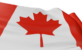 3D Canada Flag. With fabric surface texture. White background Royalty Free Stock Images