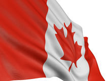 3D Canada Flag. With fabric surface texture. White background Royalty Free Stock Photo