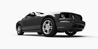 3d car. 3d rendering of a poweful sports car Royalty Free Stock Images