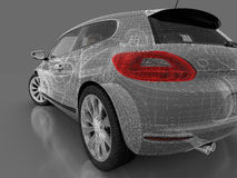 3d car on a gray background Stock Photography