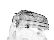 3d car model stock illustration