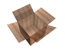 A 3d cardboard packing box Royalty Free Stock Images