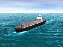 3D Cargo Ship Stock Images