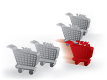 3d Cart competition Royalty Free Stock Photo