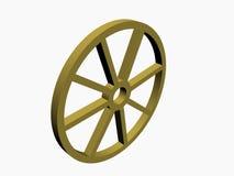 3D cart wheel Stock Photography