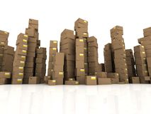 3d cartons Royalty Free Stock Photography