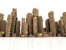 3d cartons Royalty Free Stock Photography