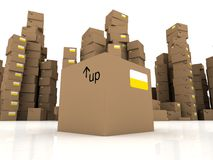 3d cartons Royalty Free Stock Images