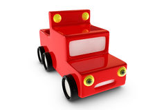 3d cartoon pickup car Royalty Free Stock Images