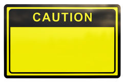 3D Caution sign Royalty Free Stock Images