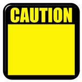 3D Caution Sign. Isolated in white Royalty Free Stock Images