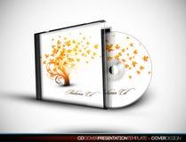 3d CD的盖子设计华丽介绍临时 免版税库存照片