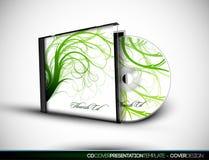 3d CD的盖子设计华丽介绍临时 库存照片