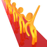 3d celebrity line up icon figure. 3d celebrity icon figures on the red carpet Royalty Free Stock Photos