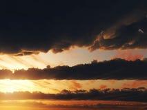 3d cg覆盖天空日落 图库摄影