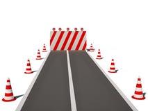 3d cg锥体没有公路交通方式 免版税图库摄影