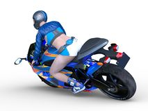 3D CG rendering of Motorbike stock illustration