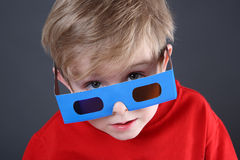 3d chłopiec szkieł target820_0_ obraz stock