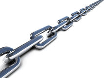 3d chain Royalty Free Stock Photos