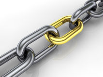 3d chain Royalty Free Stock Image
