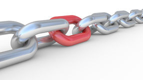 3d chain Stock Image