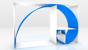 3d chain fibonacci Arkivfoto