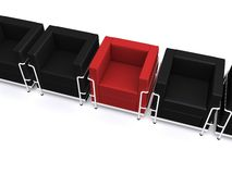 3d chairs Royalty Free Stock Images